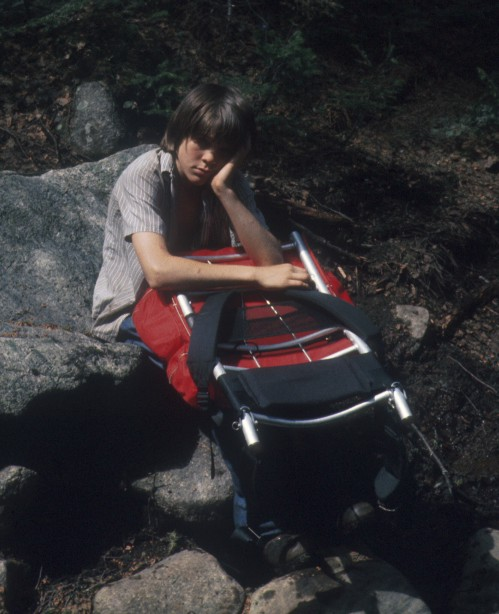 Jim hiking in the mid 1970s
