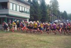 "Start of the ""24-Hours in the Adirondacks"" mountain bike race"