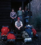 The gang at the Winter camp, late 70's