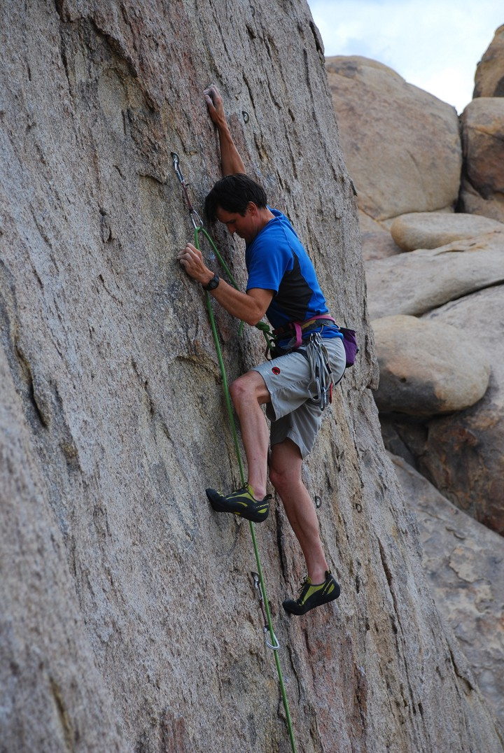 Thin crimps at the crux