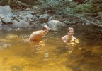 Jim and Tracy take a refreshing dip in Frye Brook