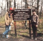 Tracy and Jim at the southern terminus of the Appalachian Trail -- Springer Mountain