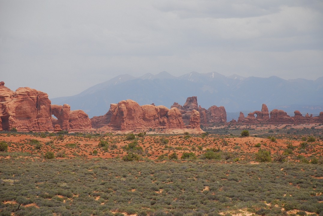 Lots of arches, seen from the road