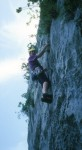 Sport climbing on great limestone