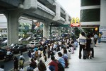 People waiting for the bus in Bangkok