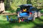 The Touareg in use -- early morning at the camp spot in Beaver Creek