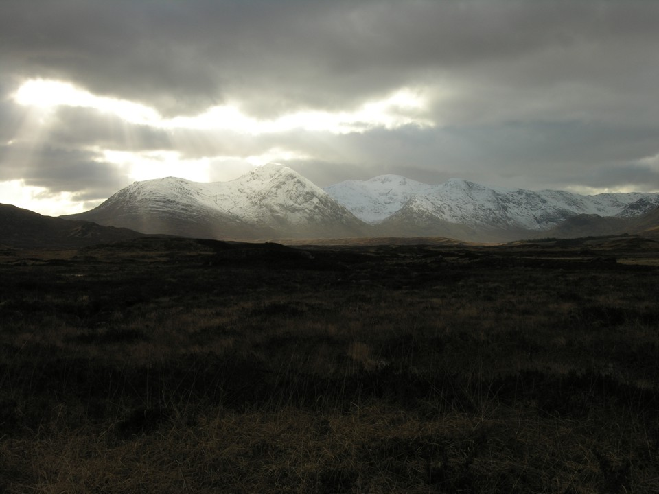 A view of the mountains on the drive up from Glasgow