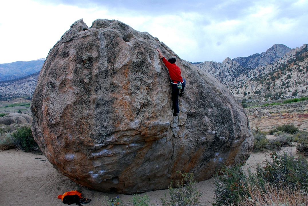 Pretty much the only boulder we could climb; we suck