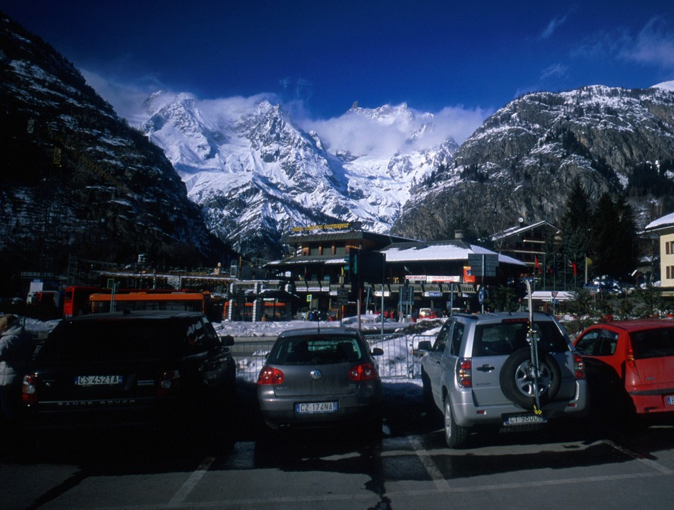 The busy ski town of Cormeyeur; very pretty, but very busy