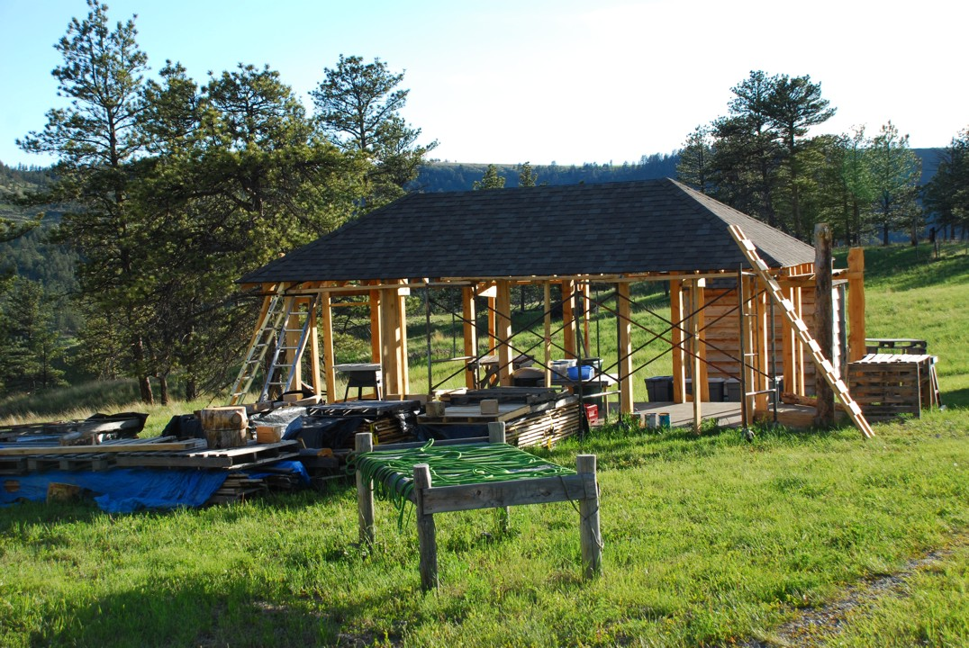 Tommy's new project -- a 10x20 barn
