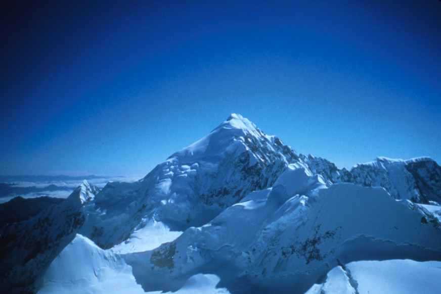 Illampu (6368m) in Bolivia, taken from high on the ridge on Ancohuma