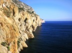 Sea cliffs along the Sierra de Toix