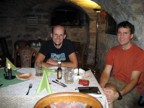 Dinner in the basement of the town hall; pretty good food, but not as good as in Velden