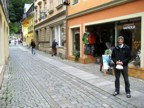 Standing in front of the second Bergsport Arnold store, this one in Bad Schandau