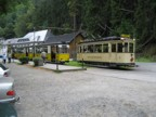 Trolly car ferries tourists from Bad Schandau up the valley to the trailheads