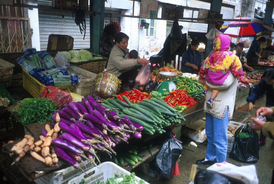 Vegetables in the street market