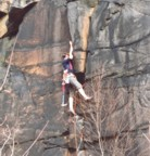Kind of a crappy picture, but shows my early climbing days -- wool knickers, Fires, and a hammer