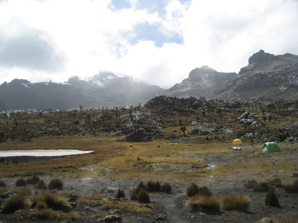 Our camp at Hall Tarns near Mintos Hut