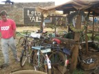 A bicycle repair shop on the way to Chagoria