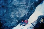 Climbing in Pinnacle Gully in the mid '80s