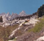 Mt. Whitney and surrounding spires as seen from the approach