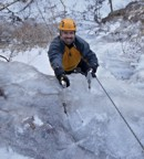 Approaching the belay on Mixed Emotions