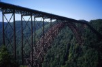 The single-span bridge over New River Gorge
