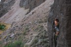 Making a clip before the crux