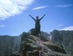 Nikos triumphant on the summit