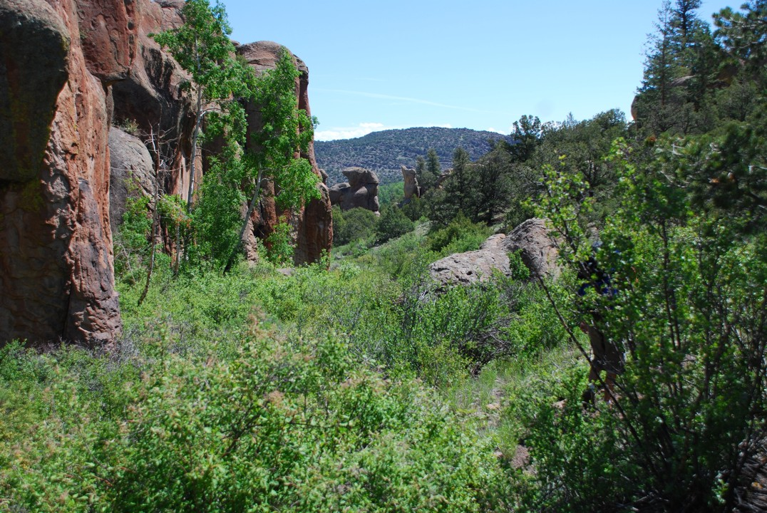 The beautiful Rock Garden, as seen when approaching from Penetente Canyon
