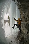 First ascent of Sockeye -- to preserve the ice column, Griz bridges from the rock