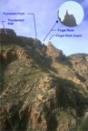 The ridge above Tucson, labeled