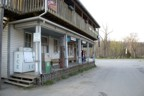 "Downtown Seneca Rocks; the ""Porch"" is on the left, the standard climber dinner spot"