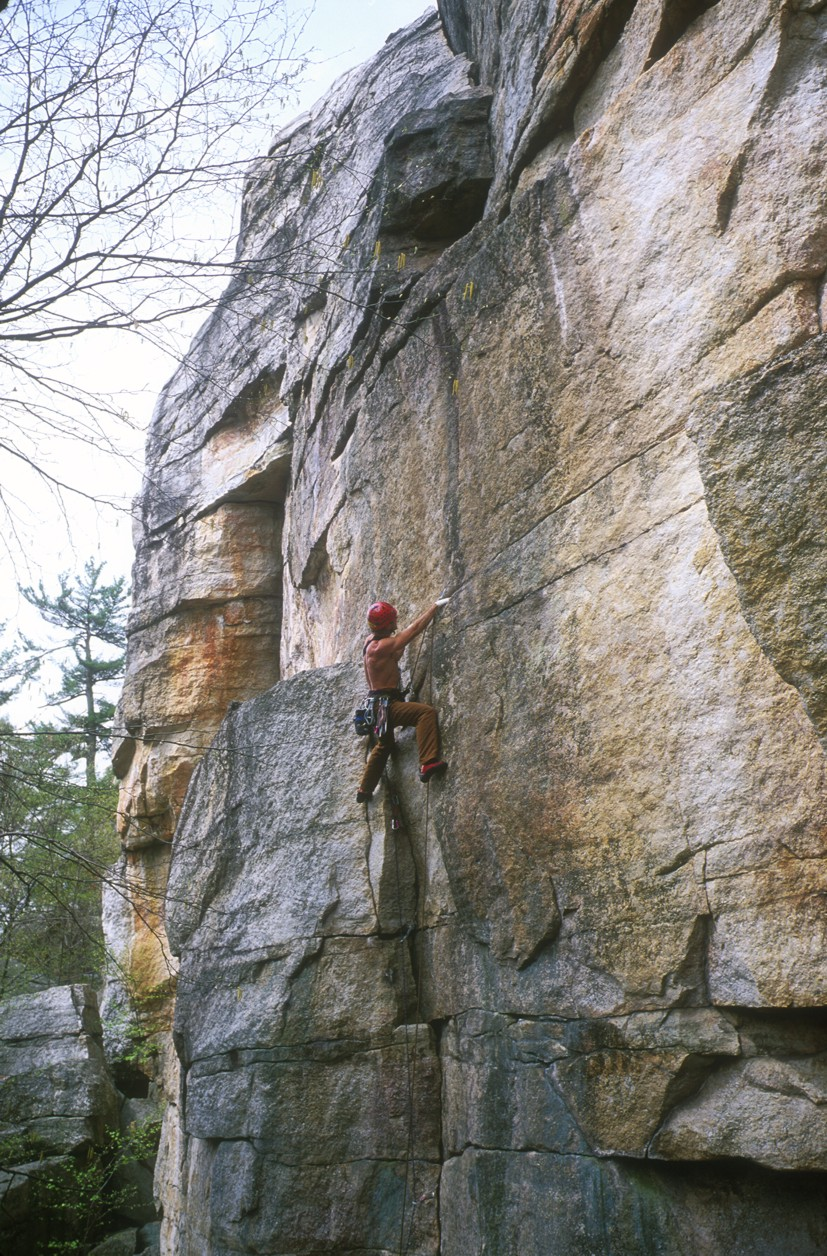Will leading Black Crack, a nice 5.10 crack left of Lost City Crack