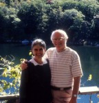 Mom and Dad next to Mohonk Lake