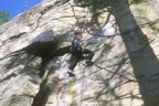 Just getting into the crux section of Lost City Crack