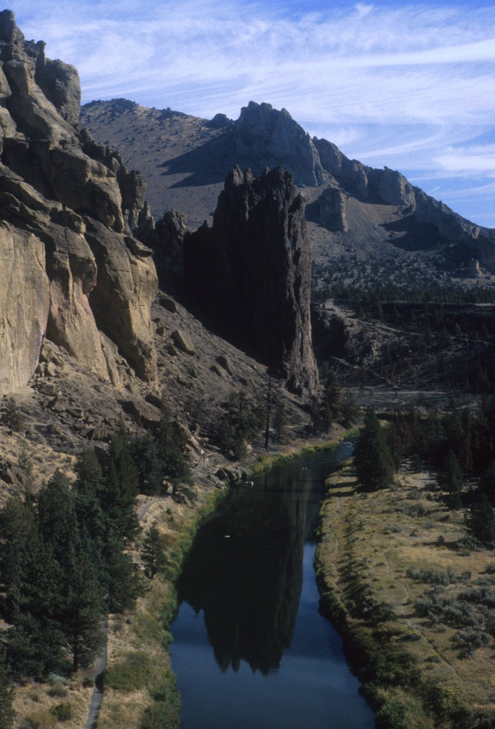 View of Smith Rock and the Dihedrals from Asterisk Pass