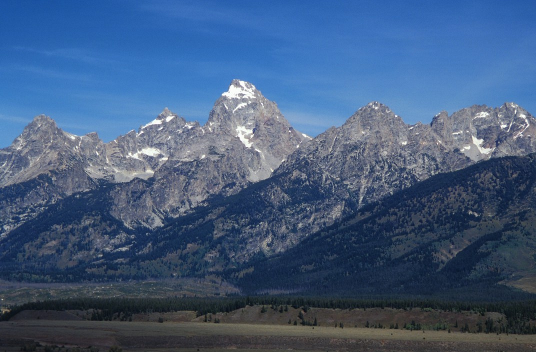 The Grand Teton from low in the valley