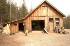 Steve's timber framing shop