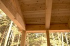 Back porch timbers and ceiling (2x6 T&G white cedar)