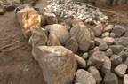 More stones gathered from the property for the chimney