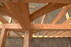 Cool spline holds together a complex joint in the timber frame