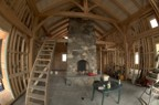 First floor with completed chimney and Lucie on the mezzanine