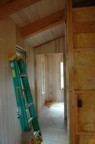 Paneling in the bathroom, partially complete