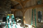 Paneling in-progress in the great room