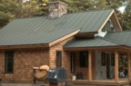 The roof is finally installed -- 24 guage standing seam, double lock, Hartford green