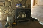 The wood stove prior to installation