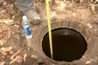 In the spring, there was 9' of water in the well