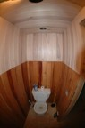 Fisheye view of the toilet closet