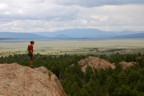 View from the top of the rocks, looking towards Taos